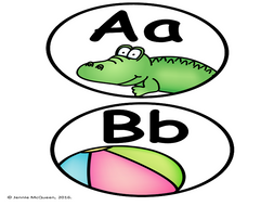Beginning Sound Word Wall Letters Simple And Clean By Jcm7334