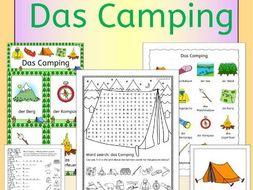 German Camping - summer vacation topic