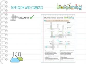 Diffusion and osmosis - Crossword (KS4)