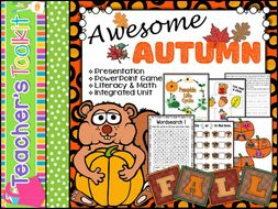 Autumn | Literacy and Maths Activities | PowerPoint Game | Integrated Unit
