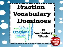 Fraction Vocabulary Dominoes