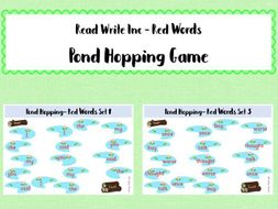Phonics Read Write Inc - Red Words: Pond Hopping Game