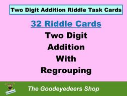 Maths Task Cards - Two-Digit Addition - With Regrouping