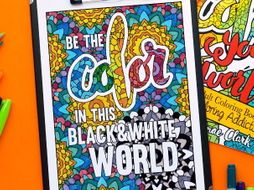 Adult Coloring Book | Color Your World: 20 Coloring pages about coloring - Printable coloring book