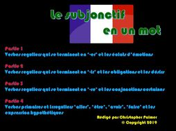 French: Subjunctive in a nutshell: Parts 1-4