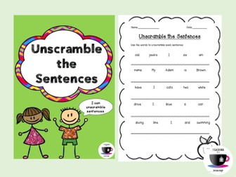 Unscramble the Sentences - Sentence Structure