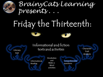 Informational Text:  Friday the 13th reading passage and activities