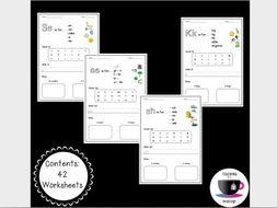 Phonics Worksheets 1 - Jolly Phonics