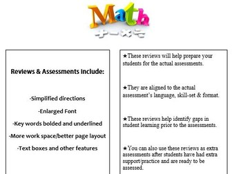 Grade 6, Math Module 1 REVIEW & ASSESSMENT w/Ans keys (printables & Smart Board)