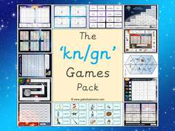 The 'kn' and 'gn' Games Pack (Year 2)