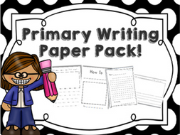 Primary Writing Paper Pack