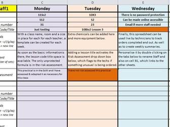 Excel Prep-Req sheet