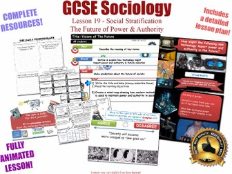 The Future of Power & Authority - Social Stratification -L19/20 [ AQA GCSE Sociology - 8192]