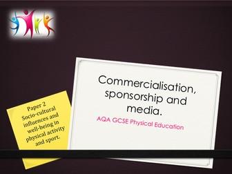 AQA GCSE PE (New Spec) - Commercialisation, sponsorship and media