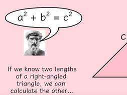 Pythagoras and Length of a Line Segment 3 lessons!