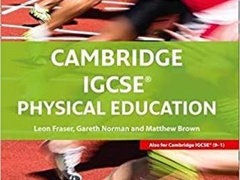IGCSE PE Component 2 CIE (2018) Revision Sheets