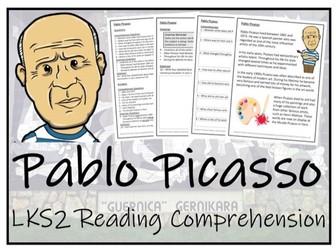 LKS2 Art - Pablo Picasso Reading Comprehension Activity