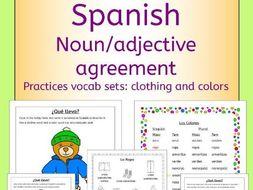 Spanish clothing and colors - la ropa y los colores