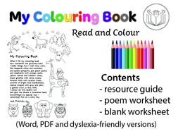My Colouring Book - read and colour