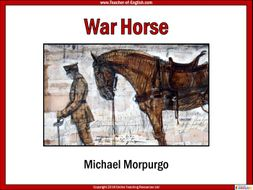 War Horse (138-slide PowerPoint, 14 lessons  and 7 worksheets)