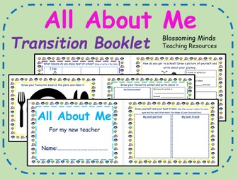 All About Me transition booklet - EYFS & Key Stage 1