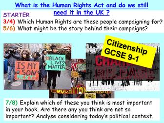 Citizenship GCSE Human Rights UK