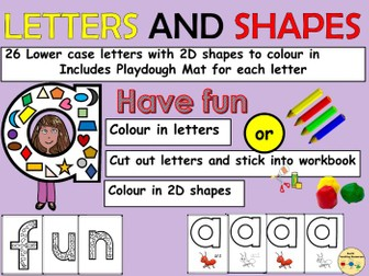 Alphabet Letters and 2D Shapes Link  Play dough Letter Mats  Worksheets/Activities