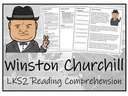 LKS2 History - Winston Churchill Reading Comprehension Activity