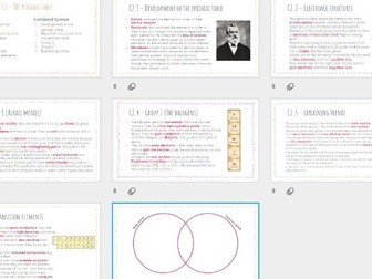 AQA GCSE Chemistry - The Periodic Table revision powerpoint