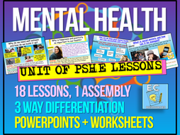 Back to school - Mental Health PSHE