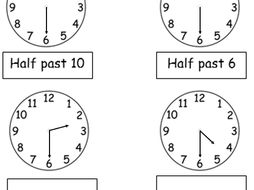 year 1 o 39 clock and half past 14 worksheets by tar00 teaching resources. Black Bedroom Furniture Sets. Home Design Ideas