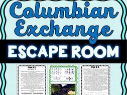 Columbian Exchange ESCAPE ROOM: Triangular Trade, Columbus, Slave ...