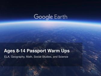 Google Earth Education: Ages 8-14 Warm Ups #GoogleEarth