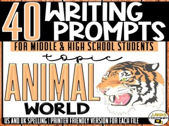 Daily Writing Prompts | Animals | Middle and High School