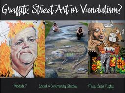 Social and Community Studies - Arts & Community - Street art of vandalism