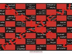 Quantifiers Tense Checker Board Game