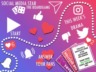 Social Media Star - A printable boardgame for all ages