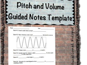 Pitch and Volume Guided Notes Template