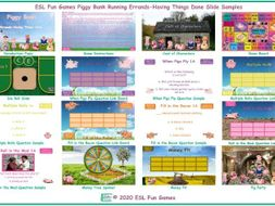 Running Errands-Having Things Done Piggy Bank English Interactive PowerPoint Game