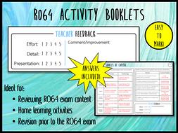LO5 & 6 R064 Activity Booklet - Ideal Homework! (Cambridge National in Enterprise & Marketing)