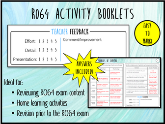 LO5 & 6 R064 Activity Booklet - Ideal Homework! (Cambridge National in Enterprise & Marketing)