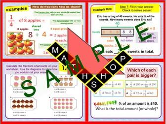 Fraction MEGA Bundle (14 Lessons Includes Angles)