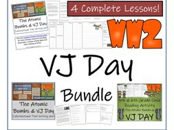 UKS2 History - Atomic Bombs & VJ Day Reading Comprehension & Informational Text Writing Unit Bundle