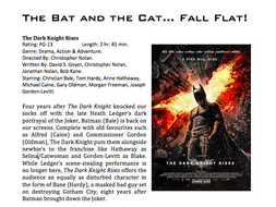 Film Review Example By Ptbevis Teaching Resources Tes