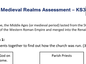 Middle Ages Assessment