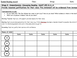 Year 5 Guided Reading records linked to NAHT outcomes/Classroom Monitor