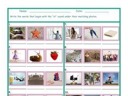 Phonics Consonant Blend ST Photo Worksheet