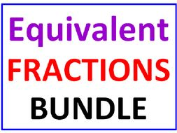 Equivalent Fractions Bundle 13 Worksheets