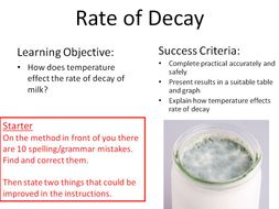 New GCSE Biology Rate of Decay Required Practical