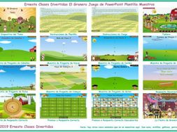 Barnyard Spanish PowerPoint Game Template FREE READ ONLY SHOW